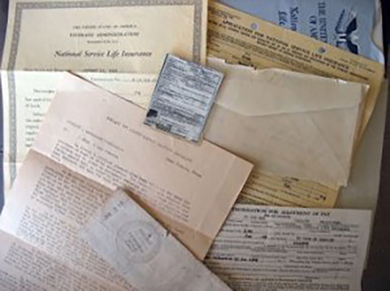 Image of an assortment of historical military documents